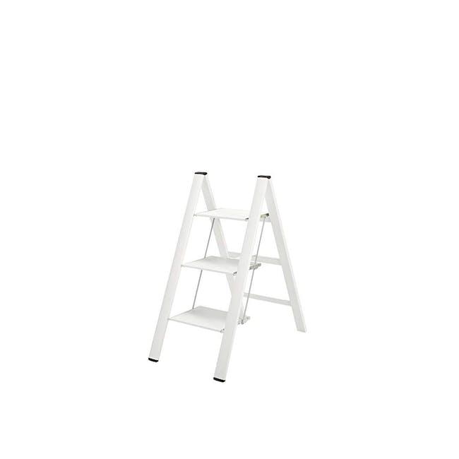 Hasegawa Lucano Slim Aluminium 3 Step Stool - White - 0
