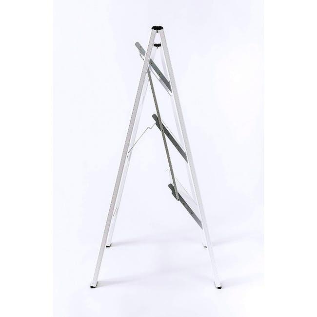 Hasegawa Lucano Slim Aluminium 3 Step Stool - White - 2