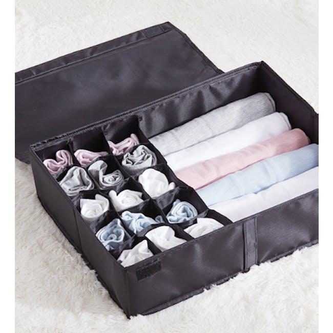 Hayley Wardrobe Storage Case - Black - 1