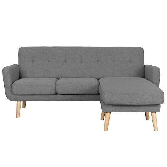 Cali L-Shaped Sofa - Siberian Grey