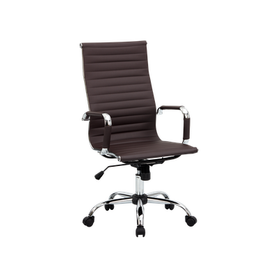 Eames High Back Office Chair - Brown (PU) - Image 2