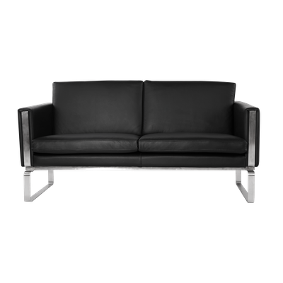 Wegner Ch101 Loveseat - Italian Leather - Image 1