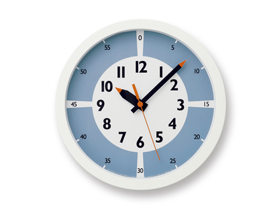 Montessori Fun Pun Clock Colour - Light Blue - Image 1