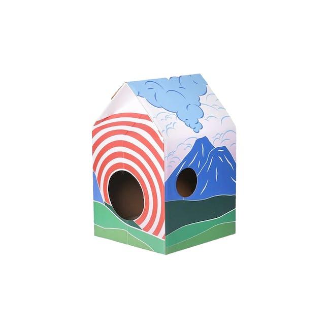 Pidan Cat Hut Scratcher - Mt. Fuji - 0