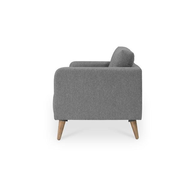 Bennett 3 Seater Sofa with Bennett 2 Seater Sofa - Gray Owl - 9