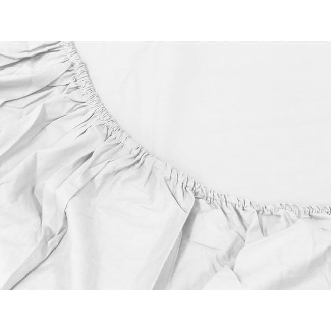 Aurora Fitted Bed Sheet - White (4 Sizes) - 1