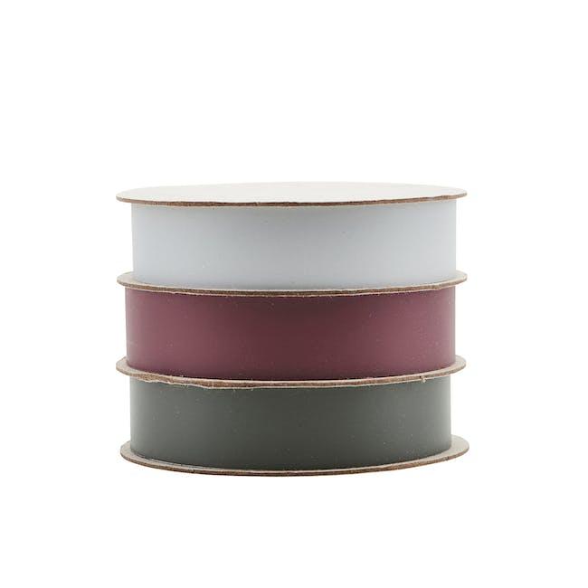 Polly Ribbon - Sky Blue, Bordeaux, Dark Green (Set of 3) - 0