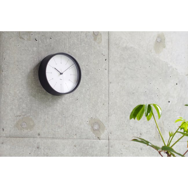 Riki Steel Clock - Black - 1