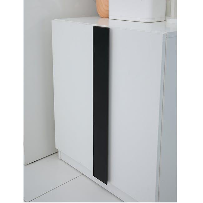 Panama Dressing Table - White, Black - 4
