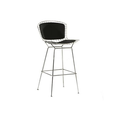 Harry Bertoia Wire Barstool - Chrome, Black