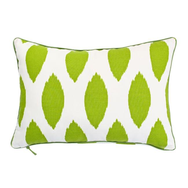 Ikat Rectangle Cushion - Green - 0