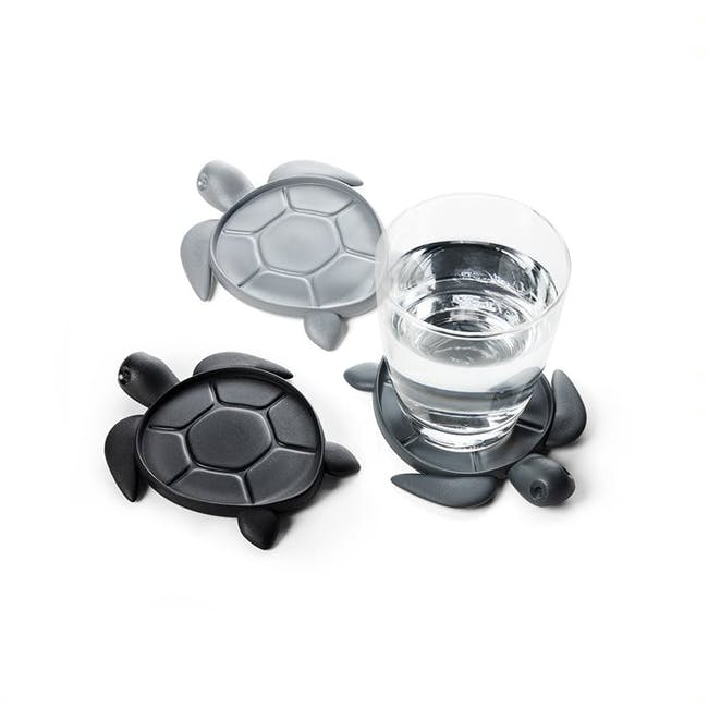 Save Turtle Coaster - Dark Grey - 1