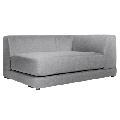 Abby Right Arm Chaise Sofa - Grey - Image 2