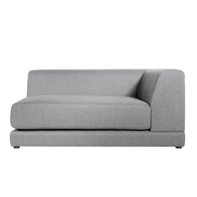 Abby Right Arm Chaise Sofa - Grey - Image 1