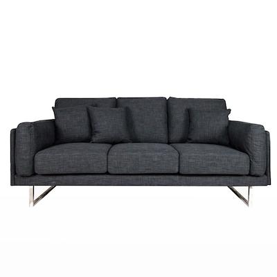 Melissa 3 Seater Sofa - Grey - Image 1