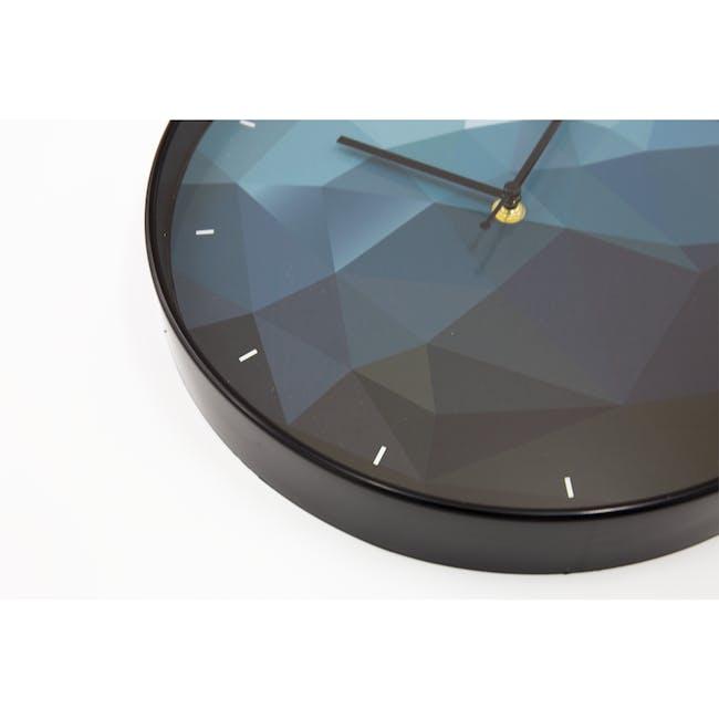 Sapphire Facet Wall Clock - 1