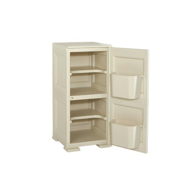 Omnimodus 4 Shelves Shoe Cabinet - Beige - 1