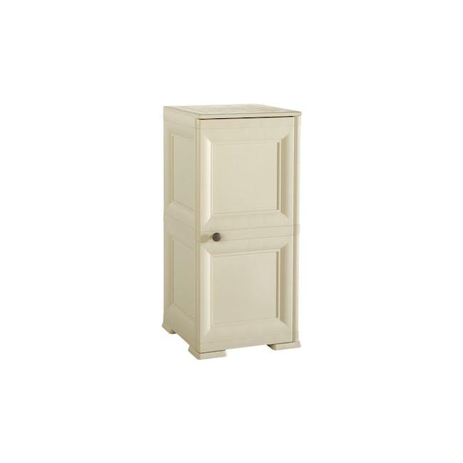 Omnimodus 4 Shelves Shoe Cabinet - Beige - 0