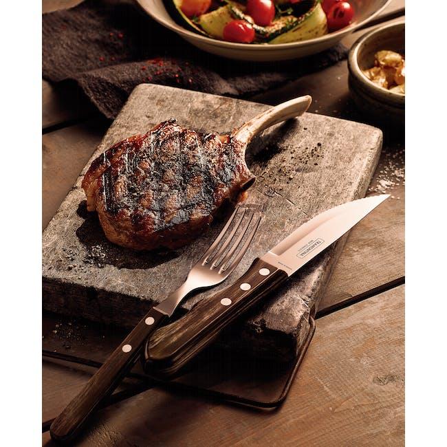 Tramontina 4pc Steak Cutlery Set - Brown - 2