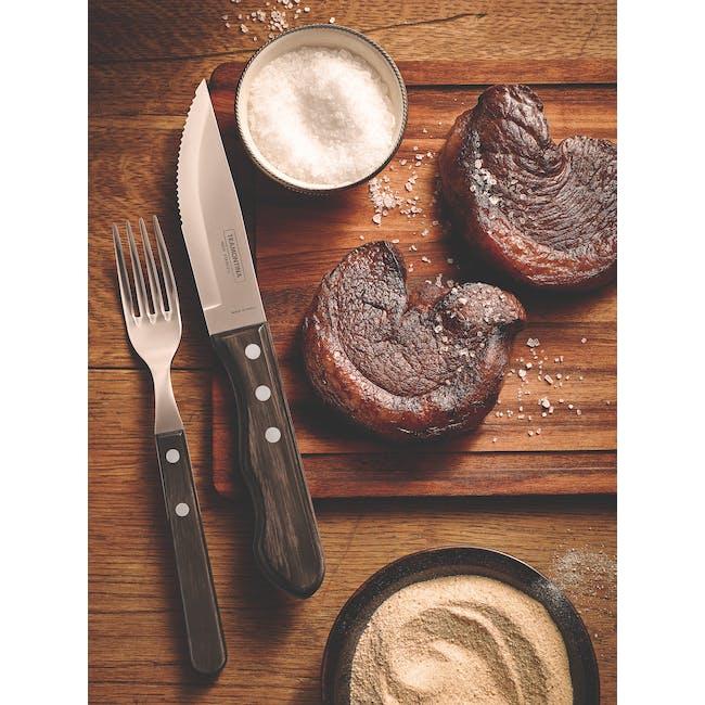 Tramontina 4pc Steak Cutlery Set - Brown - 4