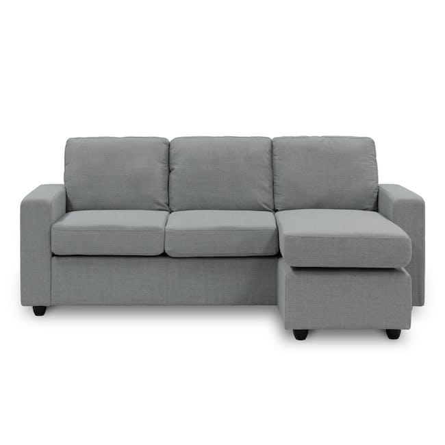 Hank L-Shaped Sofa - Pigeon Grey - 0