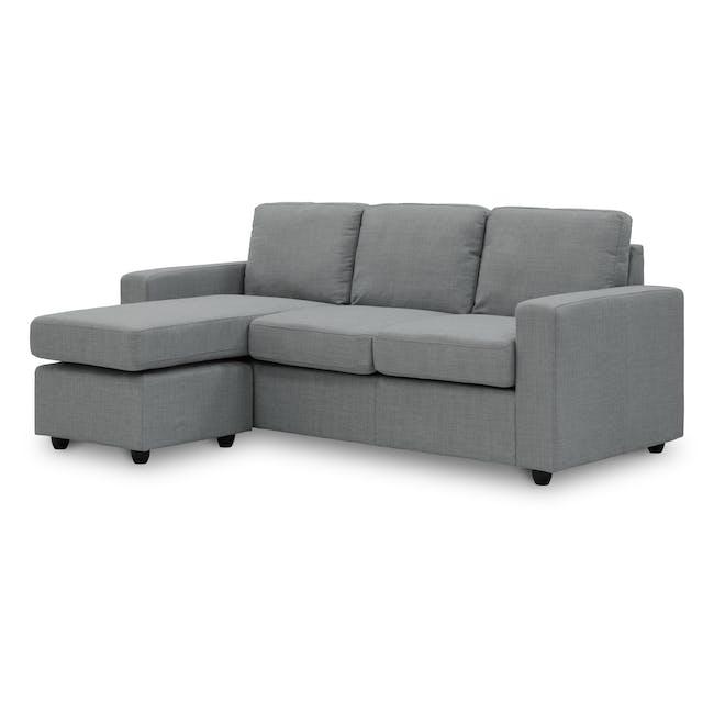 Hank L-Shaped Sofa - Pigeon Grey - 1