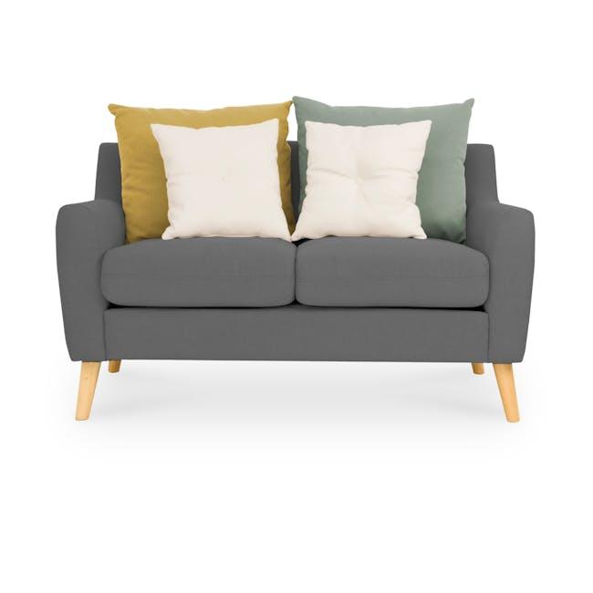 Evan 2 Seater Sofa - Charcoal Grey - 0