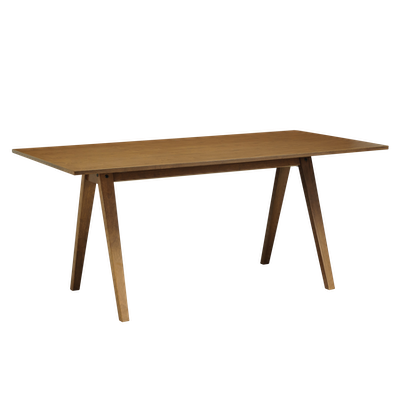 Varden Dining Table 1.7m with Marrim Bench and 2 Ladee Dining Chairs - Cocoa - Image 2