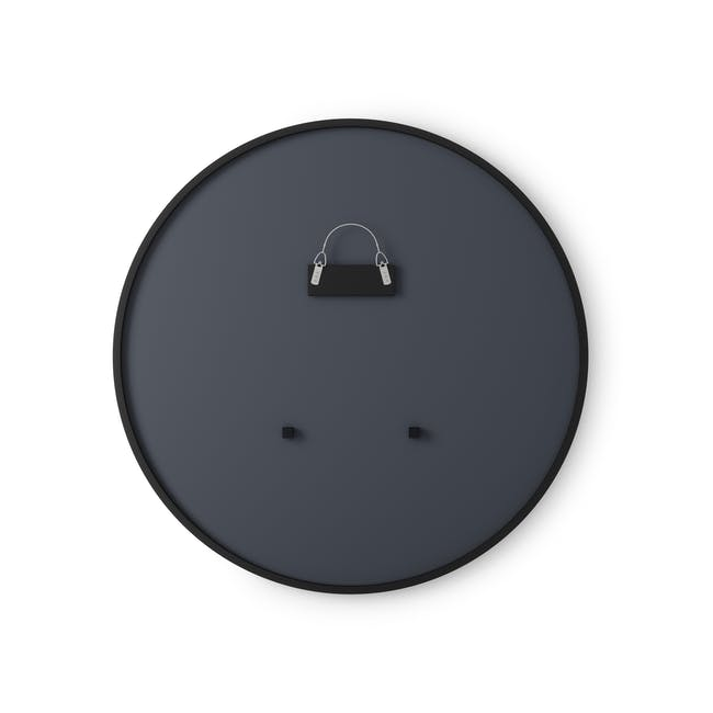 Hub Round Mirror 45 cm - Black - 1