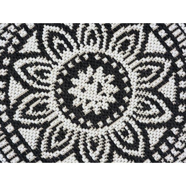 Essenza Round Flatwoven Rug 1.2m - Black Mandala - 2