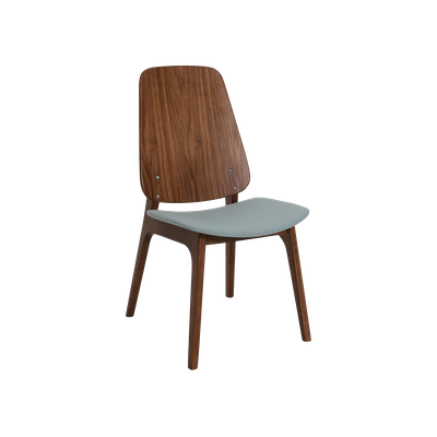Maddie Dining Chair - Walnut, Jade - Image 1