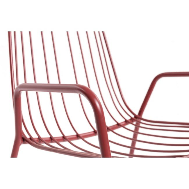 Nerissa Outdoor Armchair - Matt Red - 8