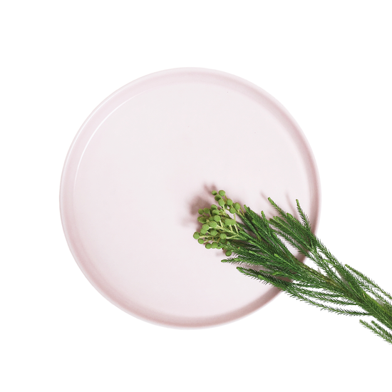 Nordic Matte Vase - Ceramic Display Tray - Dusty Pink