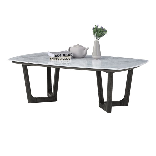 Carson Marble Coffee Table with Carson Marble Side Table - 3