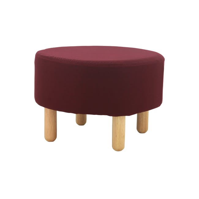 Millie Stool - Natural, Ruby - 0