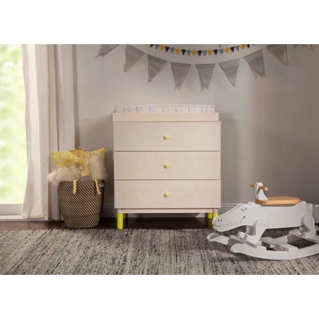 Babyletto Gelato 3-Drawer Dresser with Removable Changing Tray - Washed - 1