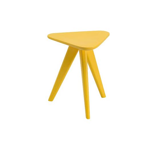 Freya Stool Small Table Dust Yellow Lacquered Malmo