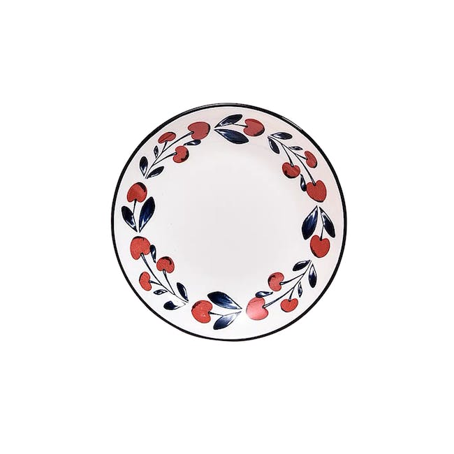 Table Matters Holiday Berry Hand Painted  Dessert Plate - 0