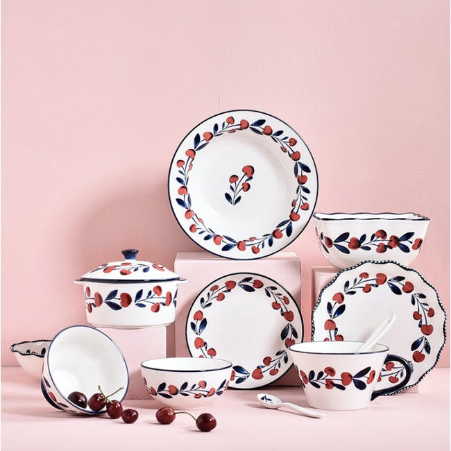 Table Matters Holiday Berry Hand Painted  Dessert Plate - 1