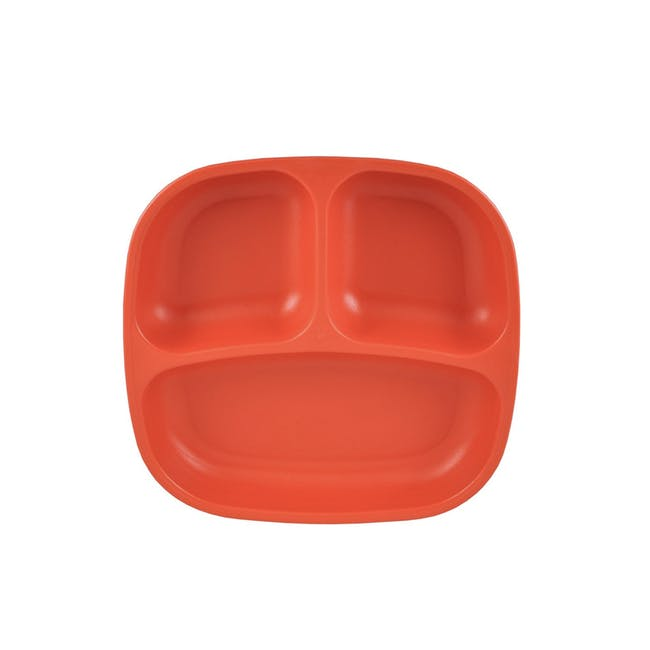 """Re-Play 7"""" Divided Plate - Red - 0"""