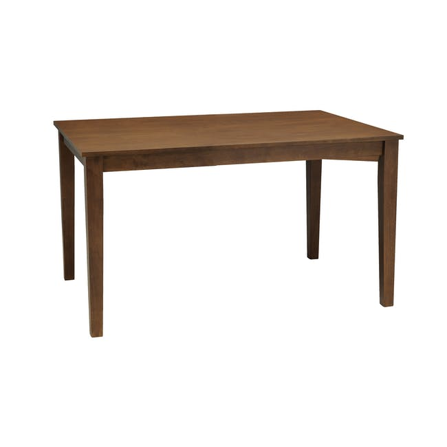 Paco Dining Table 1.2m in Cocoa with 4 Jake Dining Chairs in Carbon - 1