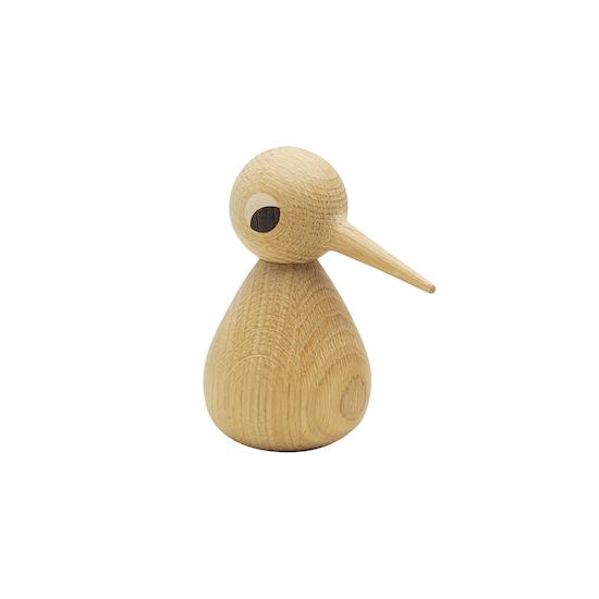 Helga - Peter the Standing Bird - Oak Wood Sculpture (Medium)