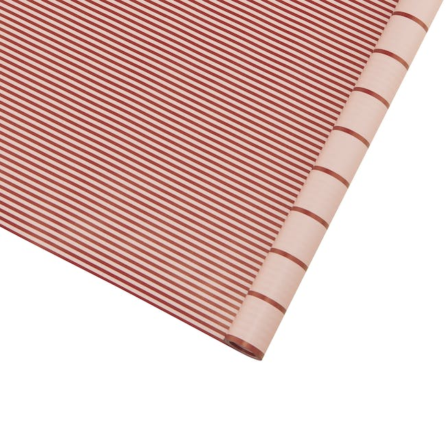 Gift Wrapping Paper - Red Stripes - 5m - 0