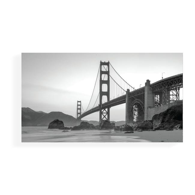 Cityscape Art Print on Stretched Canvas 90cm by 50cm - Golden Gate Bridge - 0