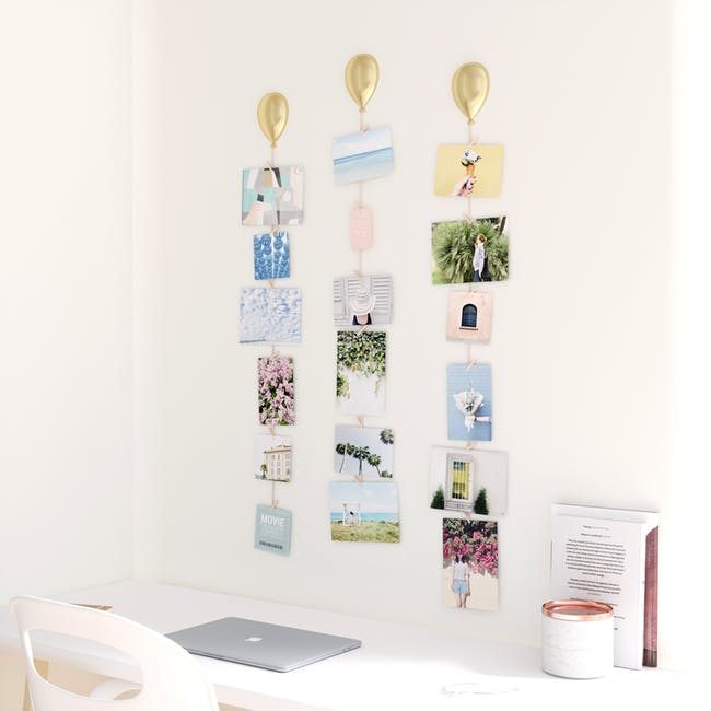 UP Wall Photo Display - Matte Brass (Set of 3) - 4