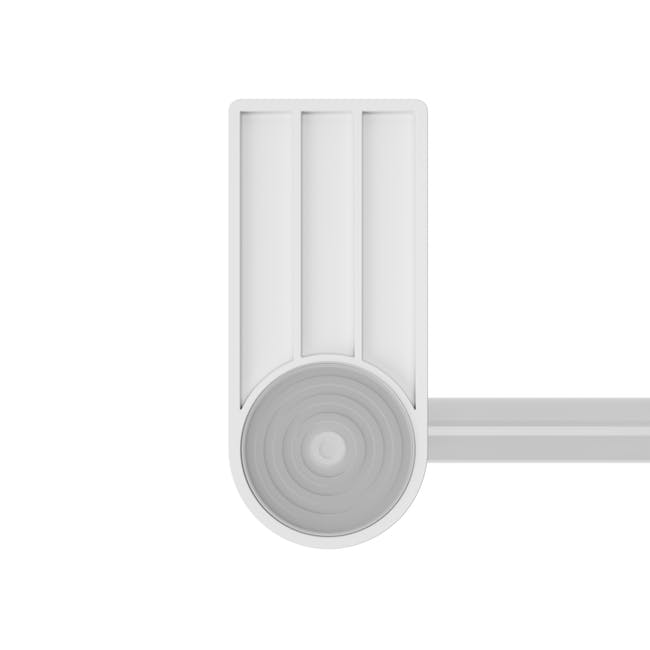 Anywhere Tension Organiser with 1 Caddy and 12 hooks - White - 12