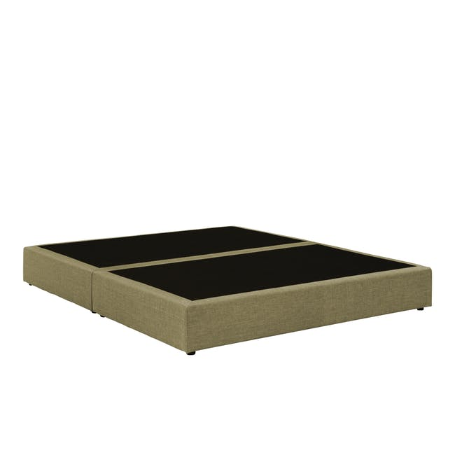 ESSENTIALS Queen Box Bed - Khaki (Fabric) - 2