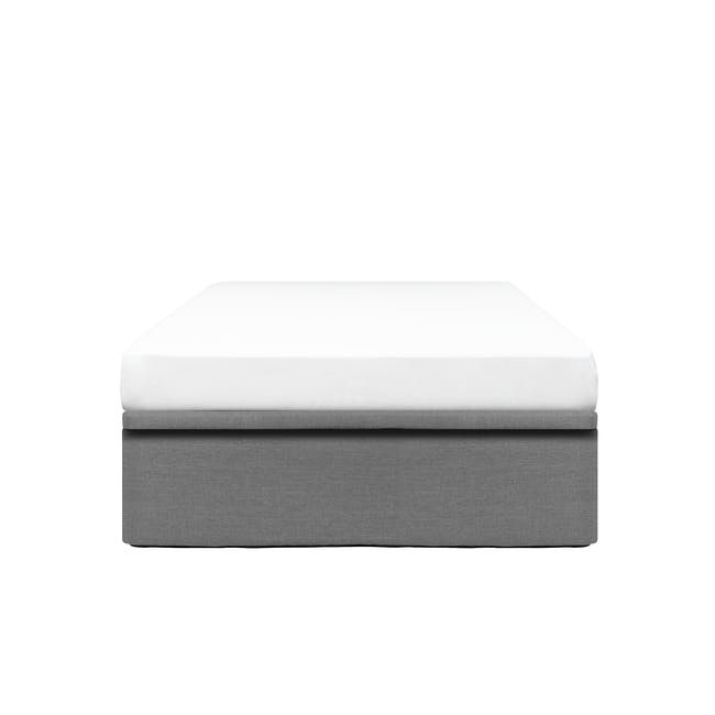 ESSENTIALS Super Single Storage Bed - Grey (Fabric) - 0