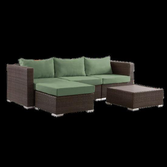 Outdoor Sets By Hipvan Beldene Modular L Shape Outdoor Sofa Set
