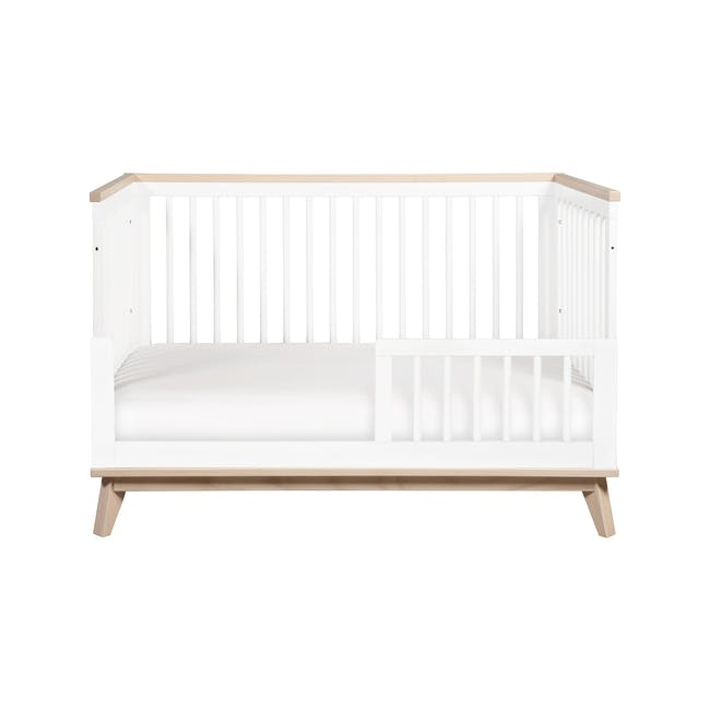 Babyletto Scoot 3-in-1 Convertible Crib - White/Washed - 1
